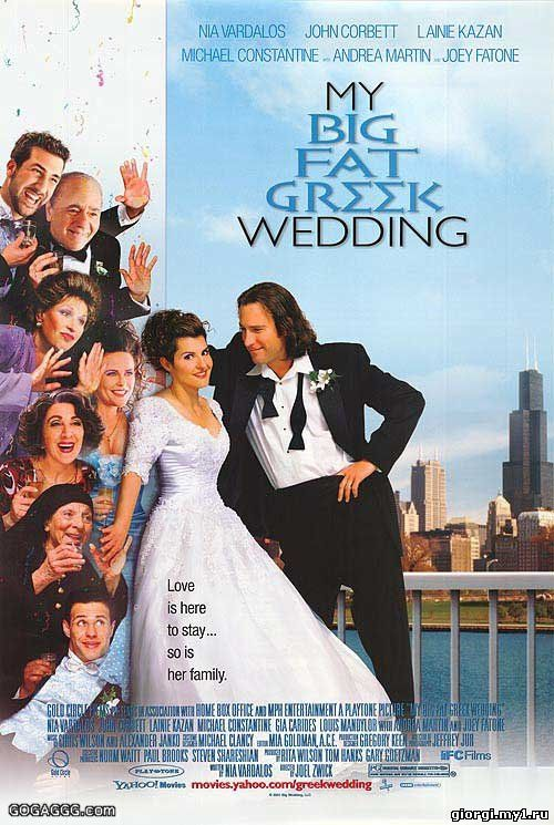 Постер к My Big Fat Greek Wedding / ჩემი დიდი ბერძნული ქორწილი (2002/ქართულად)
